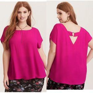Women's Torrid Plus Size Fuchsia Blouse, Pink 👚